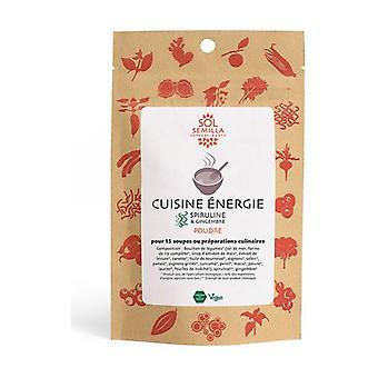 Energy cooking: Spirulina, ORGANIC Ginger 75 g of powder