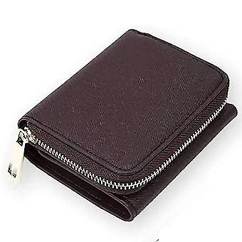 Leather ladies wallet short multi-card position first layer cowhide(Color-5)