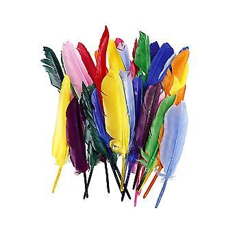 250 brillantes 20cm plumas de pluma para artesanías para niños a granel
