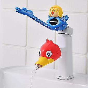 Cartoon Water Tap Extender Lavage des mains pour bébé Robinet Extension Tuyau d'eau anti-éclaboussures (#03)