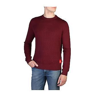 Calvin Klein -BRANDS - Vaatteet - Villapaita - J30J309543-295 - Miehet - darkred - S