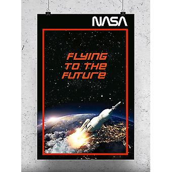 Flying To The Future Poster - NASA Designs