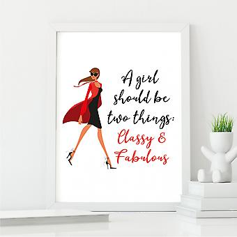 Expectation of a Woman Wall Art Print   Art Gift for Her   A4 with White Frame