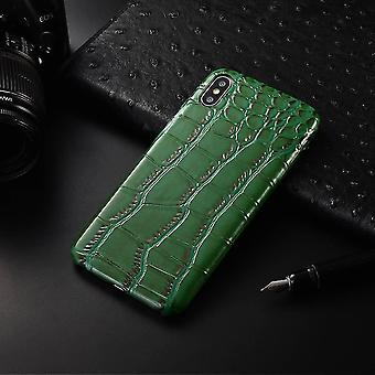Anti-fall grid smooth pu leather case(Black)