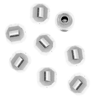 Beadalon Scrimps, Skruv-On Oval Crimp pärlor, För minnestråd, 12 stycken, Silver pläterade