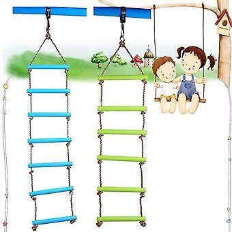 6 Rungs 2m pe köysi lapset lelu swing max load 120kg ulkona sisämuovi tikkaat köysi leikkikenttä pelit lapsille kiipeily köysi swing
