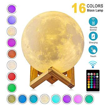 Led night light 3d print moon lamp rechargeable color change touch  children's lights night lamp for home
