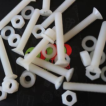 50 x Nylon förtätade plastmaskinskruvar, M5 x 40mm, Bultar, muttrar och brickor