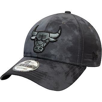New Era 9FORTY Chicago Bulls NBA Tie Dye Print Baseball Cap Hat - Gris