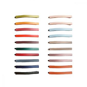 One Line Hairpin, 20 Pcs Morandi Colors Hair Clips For Women And Girls Classical Simple Colorful Sweet Matte Line Hair Barrettes Pins