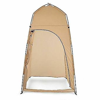 Summer Private Shower Tent For Outdoor Camping Hiking Fishing House(khaki)