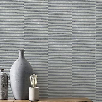 Rasch Glam skimrande linjer tapetsera grå silver 542035