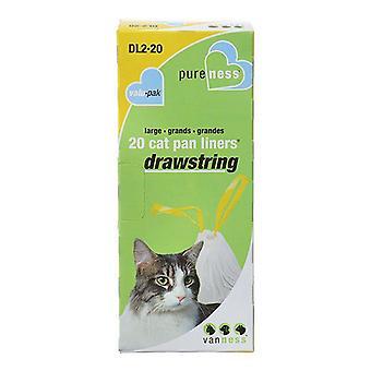 Van Ness Drawstring Cat Pan Liners - Large (20 Pack)
