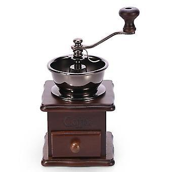 Fast trä manuell kaffebönkvarn med keramisk grindkärna mini hushålls espressokvarn
