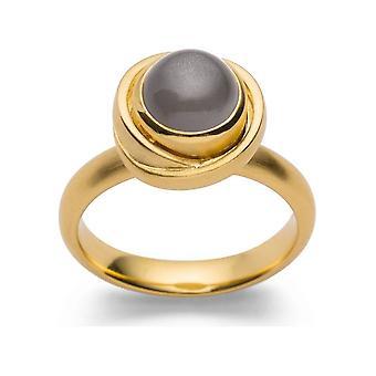 Bastian Inverun 925/- Ring, förgylld med magnifik månsten 27900-56
