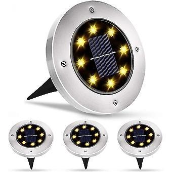 In-ground lights exterior solar light 8 led 4 pcs garden projector solar light waterproof ip65 lawn light decoration