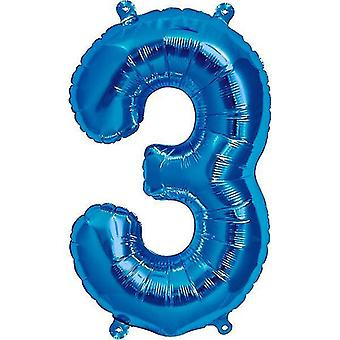 Balloons northstar 16 inch number balloon 3 blue - age balloon any birthday name 16 number banner foil air