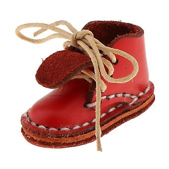 Módne bábiky Topánky 12 palcov červená čipka členkové topánky vhodné pre 1/6 Blythe Doll