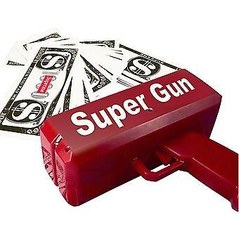 Rain Money Gun Toy Pistol Party Mode Nom Rouge 1pcs Cash Cannon Drôle Make It Cadeau de Noël