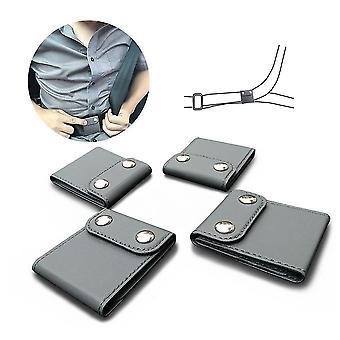 2pcs Car Seat Belt Adjuster Neck Strap Positioner Locking Clip Protector