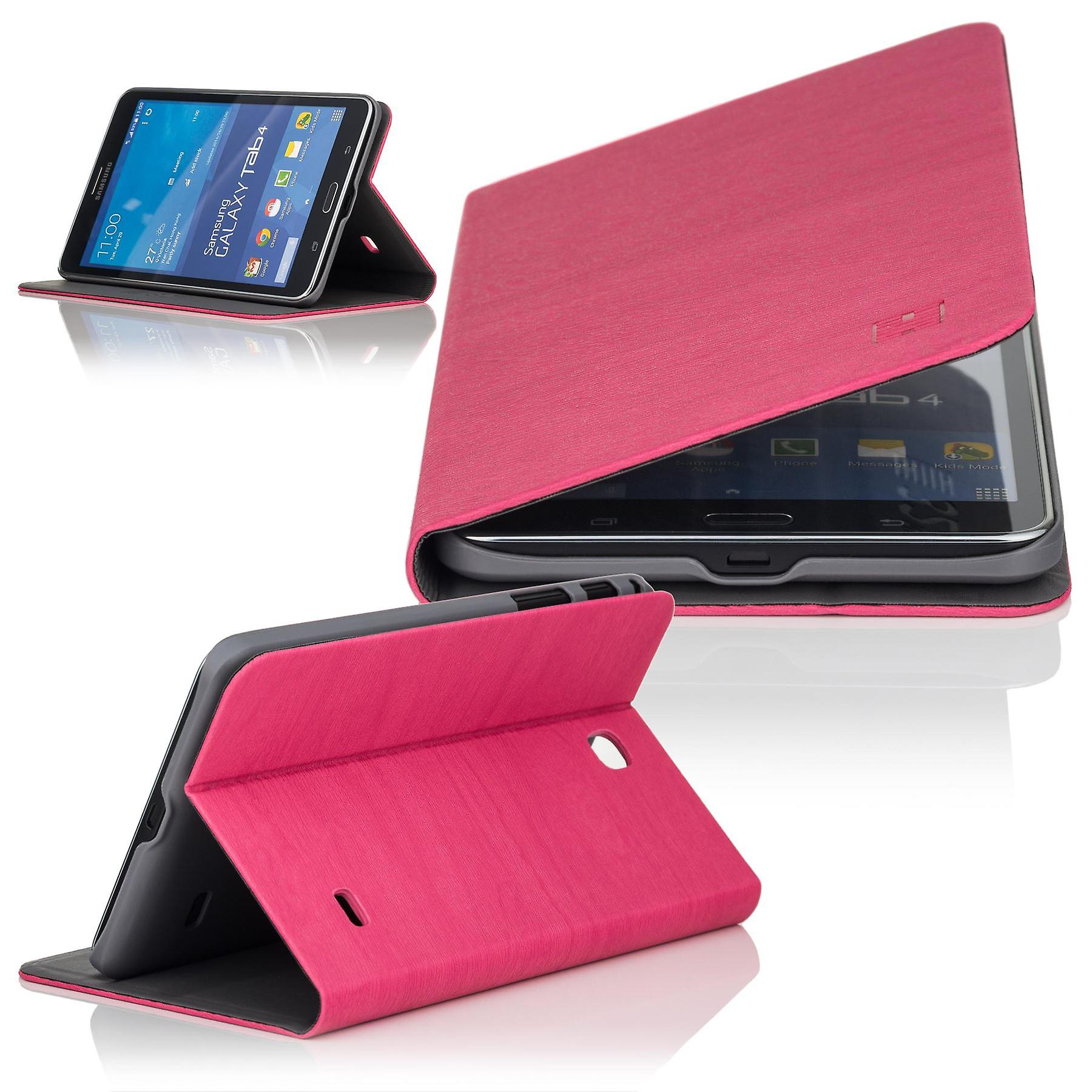 Slim Angle cover case for Samsung Galaxy Tab 4 T230 (7 inch) - Hot Pink
