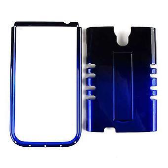 Unlimited Cellular Rocker Snap-On Case pour Samsung Galaxy S4 - Deux tons noir - Bleu