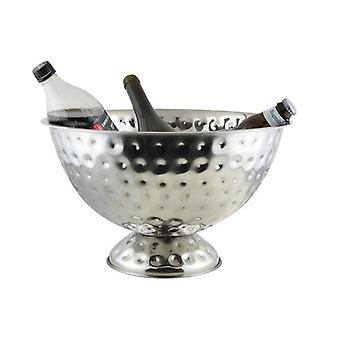 PARTY BUCKET HAMMERED CHAMPAGNE COOLER  BOWL ALUMINIUM MATERIAL GREAT FOR OUTDOOR PARTY  40CM DIAMETER
