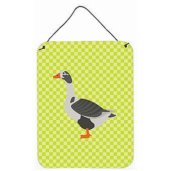 À l'ouest de l'Angleterre Goose porte suspendue ou mur vert imprime