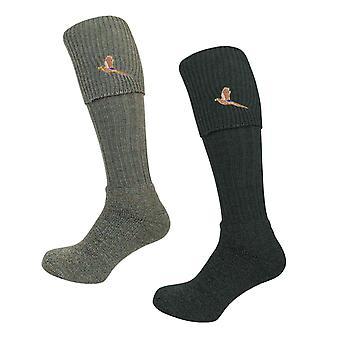 Bisley Socks - Pheasant Embroidered Breeks traditional shooting hunting socks