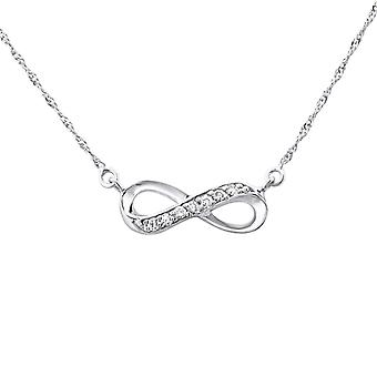 Infinity - 925 Sterling Silver Jewelled Necklaces - W27111X