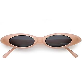 Pastel Thin Extreme Oval Sunglasses Neutral Colored Oval Lens 47mm