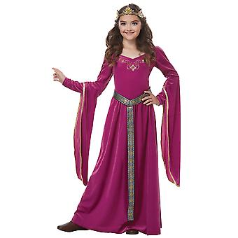 Medieval Princess Guinevere Renaissance Purple Game of Thrones Girls Costume