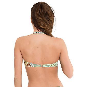 LingaDore 2914BT-152 Women's Postes Green Motif Swimwear Beachwear Bikini Top