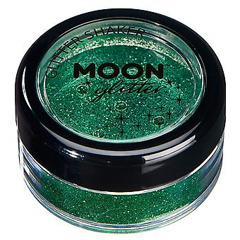 Fine Glitter Shakers by Moon Glitter – 100% Cosmetic Glitter for Face, Body, Nails, Hair and Lips - 5g - Green
