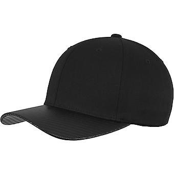 Flexfit CARBON Stretchable curved Cap - Black