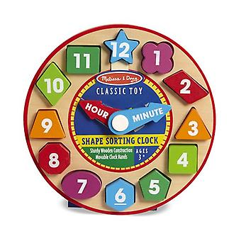Melissa & Doug Shape Sorting Clock Toy Set