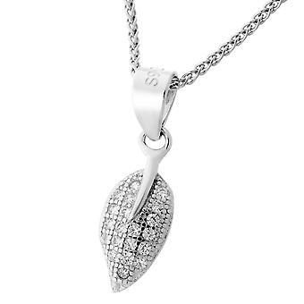Orphelia plata 925 colgante con cadena 42 + 3 Cm circonio ZH-7220