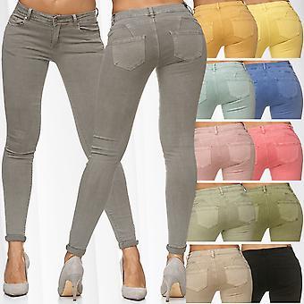 Womens Push Up Pants Stretch Treggings Vintage Jeggings Skinny Nina Carter Tube