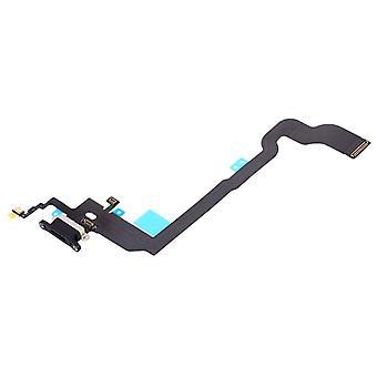 Dock connector mikrofon Flex kabel til Apple iPhone X / 10 opladning beholder sort
