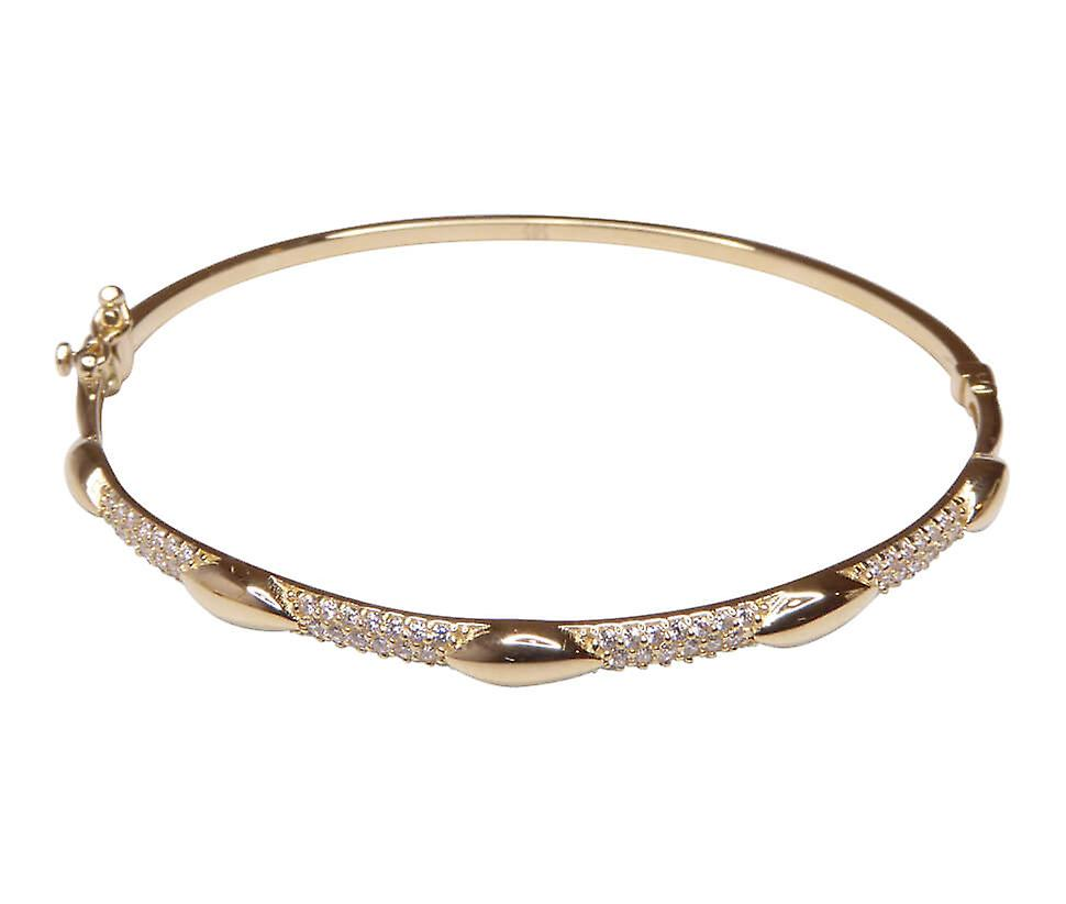 Yellow Gold 14 k bracelet with cubic zirconia