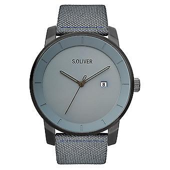 watch reloj de pulsera cuero Oliver s. hombres SO-3570-LC