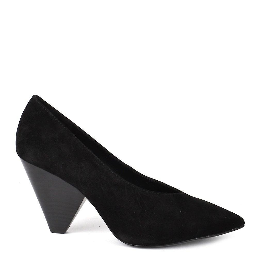 Ash Footwear Deal Black Suede Heeled Pump vveYY