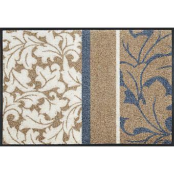 Sinfonia tvättbara golv matta wash + torka av Daniska blomstermotiv