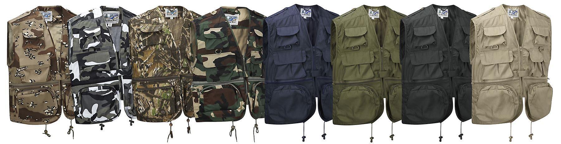 Multi Pocket Fishing Vest Hunting Waistcoat