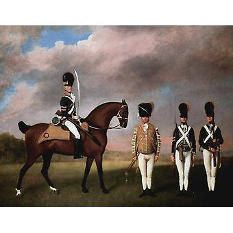 Soldiers of the Tenth Light Dragoons, STUBBS George, 50x40cm