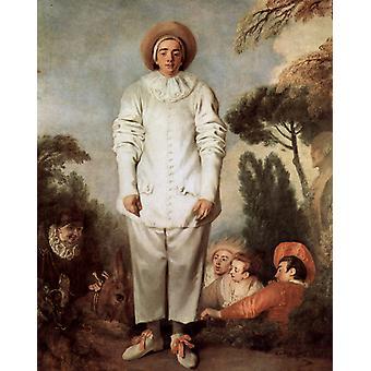 Gilles ou Pierrot, Jean-Antoine Watteau, 50x40cm