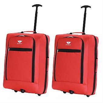Slimbridge Montecorto Set van 2 cabine Bagage tassen, rood (SET van 2)