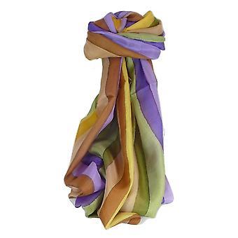 桑莓丝绸经典长围巾安科拉彩虹调色板由帕什米纳和丝绸