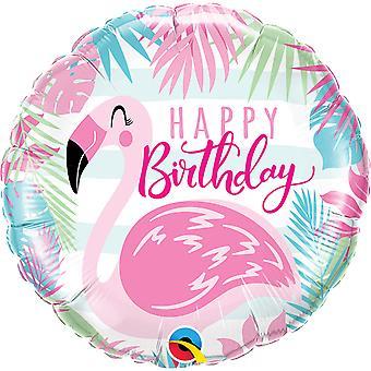 Folienballon Happy Birthday Flamingo circa 45cm