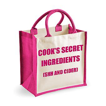 Mediu iută bag Cook ' s secret ingrediente (Shh și cidru) Pink bag